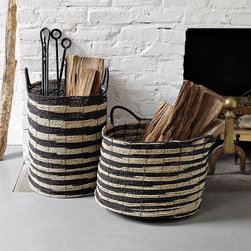 Ikat Baskets - These baskets would make for perfect storage for magazines, books or firewood.