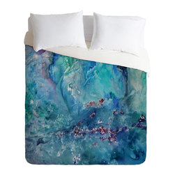 DENY Designs - Rosie Brown Diver Paradise Duvet Cover - Turn your basic, boring down comforter into the super stylish focal point of your bedroom. Our Luxe Duvet is made from a heavy-weight luxurious woven polyester with a 50% cotton/50% polyester cream bottom. It also includes a hidden zipper with interior corner ties to secure your comforter. It's comfy, fade-resistant, and custom printed for each and every customer.
