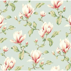 York Wallcoverings - Magnolia Branch - Double Roll - Wallpaper is priced and packaged in double rolls. Items come in quantities of 2.
