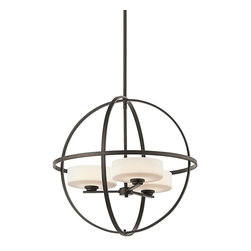 KICHLER - KICHLER 42505OZ Olsay Modern / Contemporary Chandelier - Dynamic in design, yet oh-so simple, the Olsay Collection defies conventional design to create a casually modern style. Intersecting perfect circles create an open orb form that surrounds the Satin-Etched Cased Opal Glass shades.