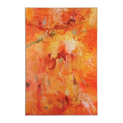 Grace Feyock - Grace Feyock Radiant Sun Contemporary Hand Painted Wall Art / Wall Decor - Bursting with color, this hand painted artwork is on canvas that is stretched and attached to wooden stretching bars. Due to the handcrafted nature of this artwork, each piece may have subtle differences.