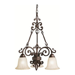 KICHLER - KICHLER Wilton Traditional Chandelier X-ZC8802 - Intricate scrolling arms and a blend of classic and traditional details create this visually stunning look. From the Wilton Collection, this Kichler Lighting chandelier comes finished in an earthy Carre Bronze hue complimented by golden toned antique barley shades in a stylish tulip shape that completes the look.