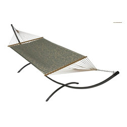 Phat Tommy - Sunbrella Hammock Set in Cabaret Blue Haze - The Phat Tommy Sunbrella Hammock is also part of our Outdoor Oasis Line and is our most durable and beautiful outdoor hammock.