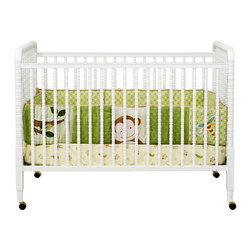 "DaVinci - Jenny Lind 3-in-1 Convertible Crib - This classic looking crib will be perfect for your baby. Jenny Lind Crib is a beautifully crafted crib styled with detailed spindles throughout. As your baby grows, convert the crib to a toddler bed with a safety guard rail ) or remove the safety guard rail for a charming day bed, perfect for the playroom. The mattress spring system adjusts to four different levels, allowing the crib to last through your infant's growth. Crib Features: -Stationary side crib with no moving parts. -Converts to toddler bed with optional rail. -Daybed conversion ready. -Adjustable 4-level mattress spring system. -Includes casters for easy mobility. -Constructed from Asian Hardwood. -This is a NON-Drop Side crib. ***Please note that these products cannot be shipped to Alaska, Hawaii, or Puerto Rico. We apologize for the inconvenience - feel free to call us regarding alternatives! This Crib is approved for use in the United States. Dimensions: -41.125"" H x 30.375"" W x 54.625"" D."