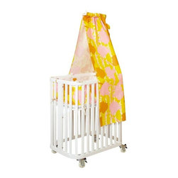 Argington - Argington Bam Canopy Drape, Gingko - Our drape slides onto the front of the canopy support, and gives your bassinet an elegant look. Made of unbleached, organic cotton. Machine washable and air dry flat