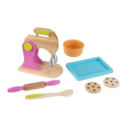 KidKraft - Bright Baking Set by Kidkraft - Baking fresh cookies is always a great activity for parents to share with their children. Now, with our new Bright Baking Set, the young chefs in your life can do all the work themselves! These wooden 6 piece sets are so detailed that you'll swear you smell the chocolate chips.