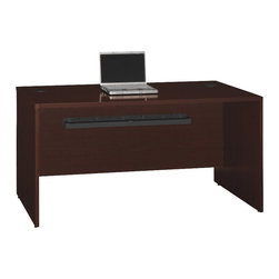 "BBF - Bush Quantum 60""W Desk Shell in Harvest Cherry - Bush - Computer Desks - QT0601ACS - Features high-performance Diamond Coat top surfaces--one of the most durable finishes in commercial office furniture, Diamond Coat features superior scratch, abrasion and stain resistance."