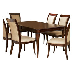 Steve Silver Furniture - Steve Silver Marseille Dining Table with Leaf - The Marseille collection provides a perfect solution to transitional dining with clean, classic, well scaled lines. This dining table will comfortably seat a family of eight.