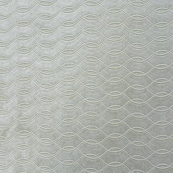 Brushed Velvet Lattice 1 Upholstery Fabric, Silver - This brushed velvet is very dressy and has a decorative lattice design cut into the foreground. The fabric is suitable for elegant upholstery, cornice/headboards, and other decorative uses.This woven can be railroaded and has a reflective, almost metallic sheen.The fabric has a glittery, silver tone, is available in limited quantities and is an exceptional buy.