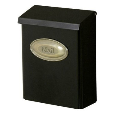 SOLAR GROUP - Lockable Black Mailbox, Vertical Mount - Lockable wall mount mailbox constructed of heavy-duty galvanized steel and has a durable powder coat finish. for security this mailbox has a concealed cam lock with two keys.