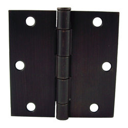 "GlideRite - GlideRite 3.5"" x 3.5"" Square Corner Oil Rubbed Bronze Door Hinges (Pack of 12) - Update the look of your doors with this convenience 12 pack of interior residential door hinges from GlideRite Hardware."