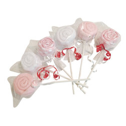 Mohavy - Baby Girl Towels Washcloths Lollipop Design, Six Pieces - Congratulation for a new baby :)
