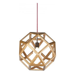 ParrotUncle - Geometry Wooden Shade Interior Pendant - Geometry Wooden Shade Interior Pendant