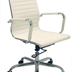 Designer Leather Office Chair - A comfortable chair is very important: think perfect height, support where you need it, wheels possibly (but only if you're on a solid floor surface). I like this classic design, and I really like the price tag!