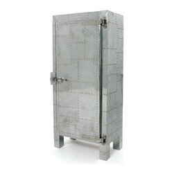 Go Home - Vintage Freezer Cabinet - Our Vintage Industrial Collection is the definition of urban chic. Reclaimed wood, rusted iron and time worn accents insure that our unique collection of furniture, accessories and lighting will take center stage in any style of decor. Mix and match with our Rural Chic and Lodge Collections for a stylish eclectic look your friends will think you paid a designer for.
