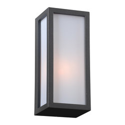 PLC Lighting - PLC 1 Light Outdoor Wall Fixture Dorato Collection 2240/CFL BZ - -Finish: Bronze