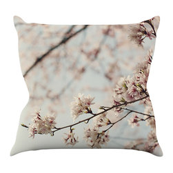 "Kess InHouse - Catherine McDonald ""Japanese Cherry Blossom"" Throw Pillow (16"" x 16"") - Rest among the art you love. Transform your hang out room into a hip gallery, that's also comfortable. With this pillow you can create an environment that reflects your unique style. It's amazing what a throw pillow can do to complete a room. (Kess InHouse is not responsible for pillow fighting that may occur as the result of creative stimulation)."