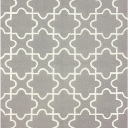 Nuloom - nuLOOM Handmade Marrakesh Trellis Grey Rug (5' x 8') - Quality meets value in this beautiful modern area rug. Hand-hooked with polyester to prevent shedding,this plush area rug will enhance any home decor.