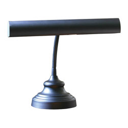 House Of Troy - House Of Troy Advent Gooseneck Transitional Piano/Desk Lamp X-7-04-41PA - Gooseneck piano lamp with 9 foot black cord. Shade swivels to direct light.
