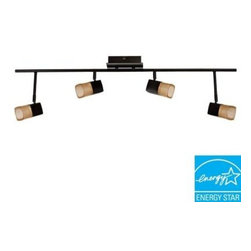 Hampton Bay - Hampton Bay Vega 4-Light Oil Rubbed Bronze LED Track Light VERF4200LEDRB3K - Shop for Lighting & Fans at The Home Depot. Vega LED 4-light fixed track. This contemporary designed fixture features long life LED heads. It also delivers energy savings using low-wattage while delivering high performance.