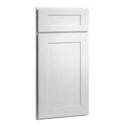 CliqStudios.com - Dayton White Paint Shaker Kitchen Cabinet Sample - Dayton's Shaker inspired ...