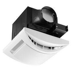 "Progress Lighting - Progress Lighting 80 CFM Energy Star Bathroom Exhaust Fan with Light X-BW03-120V - The PV021-30WB is Energy Star qualified bath fans that offer the best combination of energy efficiency and quiet operation. Rated for 80cfm air flow at 0.1"" Ps accommodating 72ft rooms with 8' ceiling heights, and have sound ratings 0.7 sone. Air and sound ratings have been verified and listed by the Home Ventilating Institute. Motors are encased and permanently lubricated for continuous operation. Diffusers are white, and are retained by torsion springs to ensure a tight fit against the ceiling and easy installation. Accommodates 2"" x 8"" joist construction, and are shipped with bar hangers that can be adjusted for 24"" joist spans."