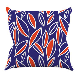 """Kess InHouse - Emine Ortega """"Leaving Orange"""" Throw Pillow (18"""" x 18"""") - Rest among the art you love. Transform your hang out room into a hip gallery, that's also comfortable. With this pillow you can create an environment that reflects your unique style. It's amazing what a throw pillow can do to complete a room. (Kess InHouse is not responsible for pillow fighting that may occur as the result of creative stimulation)."""