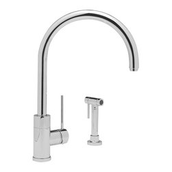Blanco - Blanco Purus II Kitchen Faucet - A dazzling display of form and function makes an appearance in this stunning style. This faucet features a modern arc design and a minimalist side lever.