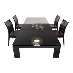 Rossetto - Diamond Rectangular Dining Table in Black - Features: