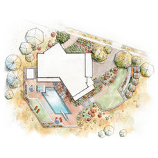 Contemporary Site And Landscape Plan by Kingbird Design LLC