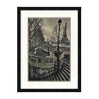 """Amanti Art - """"Paris"""" Framed Print by Sabri Irmak - Invite the magic of Paris into your decor. This masterful image by photographer Sabri Irmak captures a gray day in the City of Light from a fascinating perspective, bringing you-are-there impact to your favorite space."""