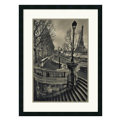 "Amanti Art - ""Paris"" Framed Print by Sabri Irmak - Invite the magic of Paris into your decor. This masterful image by photographer Sabri Irmak captures a gray day in the City of Light from a fascinating perspective, bringing you-are-there impact to your favorite space."