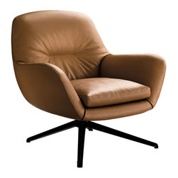 Minotti - Minotti Jensen Armchair - Technology is here, as is the school of the Italian master upholsterers. In other words: design and comfort. This is Jensen, designed to set the standard. The armchair is available in two versions, the classic armchair and the bergere, either with a fixed or swivel base. Comfort is apparent as well. The cushions are padded with goose down for exceptional comfort. A matching foot stool is available for purchase. Finishes in fabric or leather. Price includes shipping to the USA. Manufactured by Minotti.