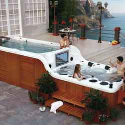 Luxema 8000 Spa - Who needs a pool when you have this enormous hot tub? This party-starting spa comes equipped with a TV, stereo system and built-in bar.