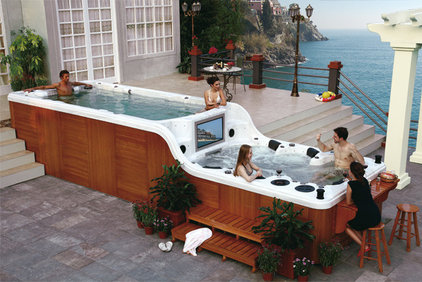 contemporary swimming pools and spas by Spambient