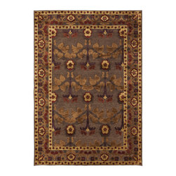 "Surya - Surya Basilica BSL-7194 (Dark Brown, Bronze) 5'2"" x 7'6"" Rug - The rugs of Surya's Basilica Collection are distinctive and textural with high contrast color palettes and shimmering details. Machine made in Turkey from a combination of viscose and acrylic chenille, these rugs are durable, stylish, and priced right. Modern motifs and cutting edge construction, they make a sophisticated statement in any transitional or contemporary space."