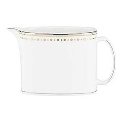 kate spade new york - kate spade new york Richmont Road Creamer - Banded in precious platinum our Richmont Road Creamer by kate spade new york features whimsical gold and silver metallic dots with a hint of retro styling. Crafted of bone china the creamer gives a celebratory feel to your table.