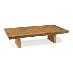 Moe's Home Collection - Moe's Home Solida Coffee Table in Natural - Reclaimed wood eco friendly coffee table