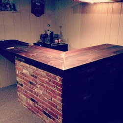 Reclaimed Wood Bar Top - Reclaimed Wood Custom Bar Top