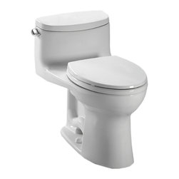 Toto - Toto MS634114CEFG#01 Supreme II One-Piece High-Efficiency Toilet, 1.28 GPF - With the classic styling and sleek, smooth design, the Supreme collection gives a subtle, traditional style to any decor.