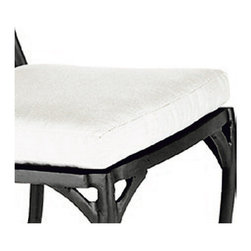 Frontgate - Cushion for Catalina Arm/Side/High-Outdoor Dining Chair, Patio Furniture - High-quality density polyester fill. Resists fading, mold and mildew. Spot clean; air-dry only. Add an extra layer of comfort and color to your Catalina Chair with an outdoor cushion tailored for a perfect fit.  .  .  .