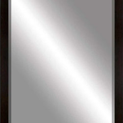 Paragon Decor - Beveled Mirror, Contemporary Flat Black, 24x36 - Mirror, Mirror, on the wall, who's the most beautiful mirror of them all? Reflect your impeccable taste with this contemporary-style mirror, which features a gorgeous flat black frame and high-quality interior beveled mirror. This piece measures 27 inches wide, 2 inches deep, and 39 inches high.