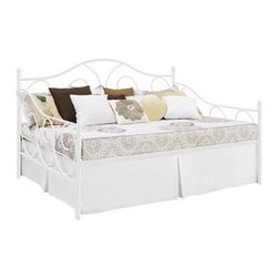 DHP Victoria Full Size White Metal Daybed -