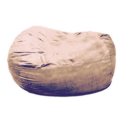 Comfort Research - FufSack XXLarge Camel Lounge Chair - Adults and children will fall in love with this beanbag-style lounge chair. The oversized FufSack chair with a camel-color microfiber cover is large enough for two people to snuggle, watch television, or just relax in the utmost comfort.