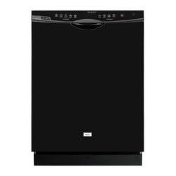Haier - Haier Dishwasher SteamRite Black - Tall Tub, Stainless Steel Interior|6 Wash Levels|5 Cycles, NSF Certified Sanitize Rinse|Adjustable Upper Rack|Nylon Racks|14 Place Settings|Hard Food Disposer|Stainless Steel Triple Filtration System|60 dBA|2 Fold-down Tines in Lower Rack|2 Fold-down Tines in Upper Rack|ENERGY STAR