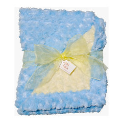 Light Blue/Yellow Baby Blanket - This throw blanket is supremely soft and cozy while its two-tone color scheme keeps it looking elegant and sophisticated in any nursery. Buy this blanket for your baby or give as a shower gift to expectant parents. They'll be sure to love and cherish it for years.