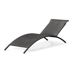Zuo Modern - Zuo Biarritz Lounge Chair in Espresso - Lounge Chair in Espresso belongs to Biarritz Collection by Zuo Modern Whether you are sunbathing by the pool or relaxing at the beach, the Biarritz is the perfect lounge that combines the minimalist with the conventional. The unique shape of the Biarritz allows you to rest your legs in a comfortable way. The weave is a UV treated synthetic with a tubular re-enforced aluminum frame. Relaxing, by the pool or at home, is a requirement of life. Lounge Chair (1)
