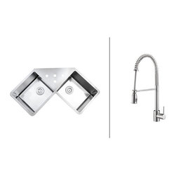Ruvati - RVC2566 Stainless Steel Kitchen Sink and Polished Chrome Faucet Set - Ruvati sink and faucet combos are designed with you in mind. We have packaged one of our premium 16 gauge stainless steel sinks with one of our luxury faucets to give you the perfect combination of form and function.