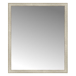 "Posters 2 Prints, LLC - 39"" x 46"" Libretto Antique Silver Custom Framed Mirror - 39"" x 46"" Custom Framed Mirror made by Posters 2 Prints. Standard glass with unrivaled selection of crafted mirror frames.  Protected with category II safety backing to keep glass fragments together should the mirror be accidentally broken.  Safe arrival guaranteed.  Made in the United States of America"