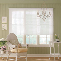 "Bali NeatPleat 1"" Sheer Shades - Bali Neat Pleat Pleated Shades feature a unique back-ladder design that prevents pleats from sagging or stretching over time. Bali Neat Pleat Pleated Shades are a perfect choice for anyone who wants to add texture and dynamic color to a room. Available in a range of fresh, on-trend colors."